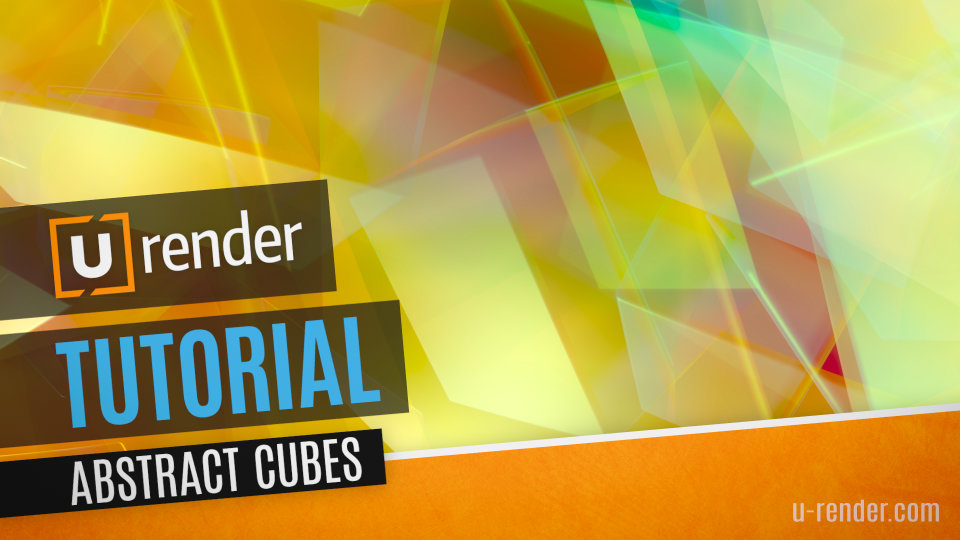 Abstract Cubes Background Tutorial